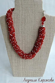"Beaded necklace ""Louise"""
